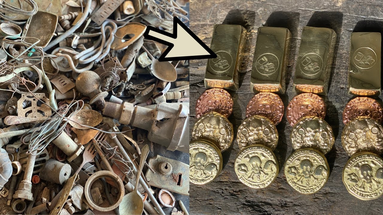 GIVEAWAY - Metal Detected Trash To Treasure - Metal Melting ASMR - Alloy Casting - Nordic Gold GAW