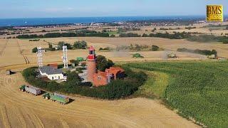 Getreideernte am Ostsee Leuchtturm Buk Kühlungsborn - Landwirtschaft  Claas, John Deere, New Holland