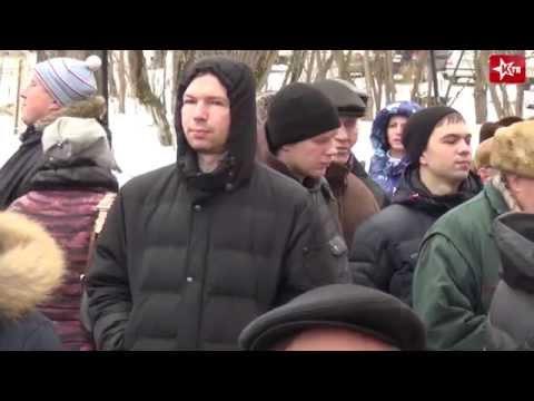 Митинг в Саввино против объединения Железнодорожного и Балашихи