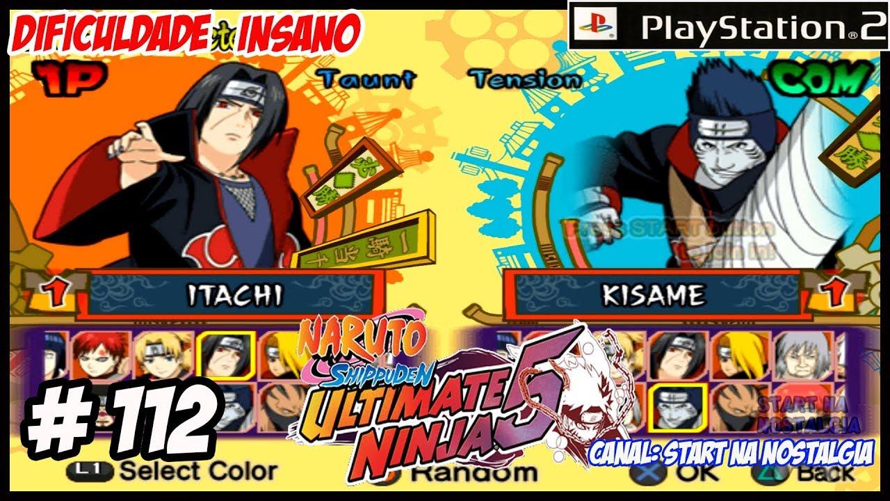 Naruto Shippuden Ultimate Ninja 5 PS2 # 112 Itachi Uchiha Vs Kisame - NO  INSANO【1444p 60FPS】