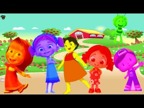 Arı Maya Niloya Pepee Maşa Heidi Elif ile İngilizce Renkleri Öğreniyoruz - Çocuk Şarkıları