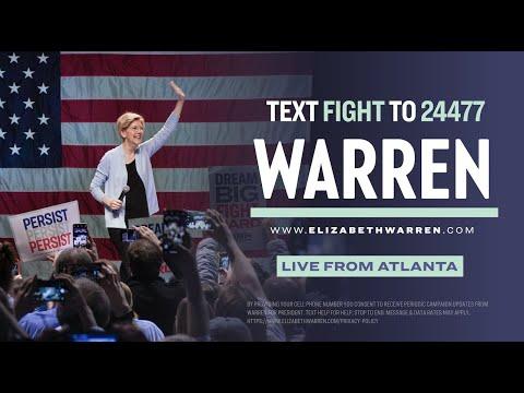 Elizabeth Warren Speaks In Atlanta, GA