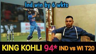 Maestro Kholi Powers India To 6 Wkts Win  1st T20 Ind vs WI  Danish Kaneria