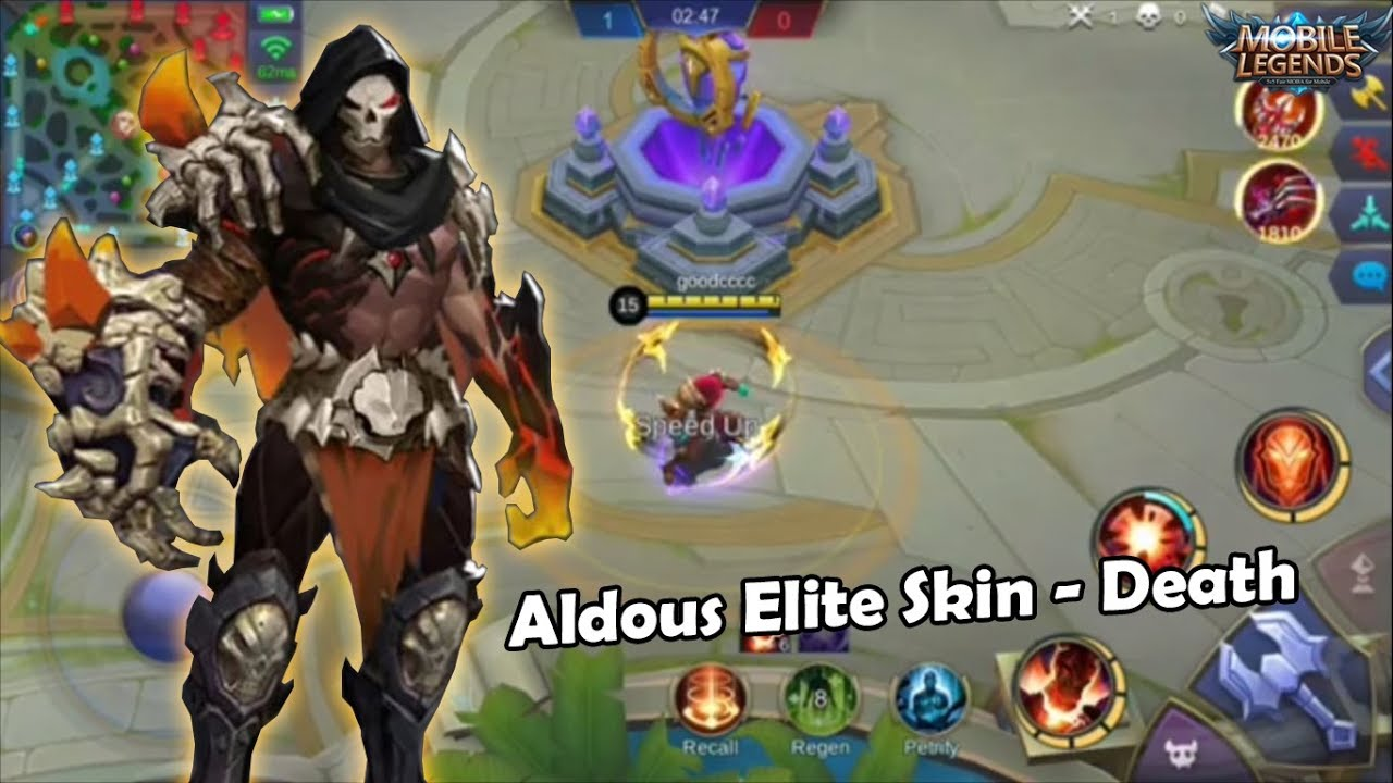 Aldous Elite Skin - Death  Skill Effect  Mobile Legends - YouTube