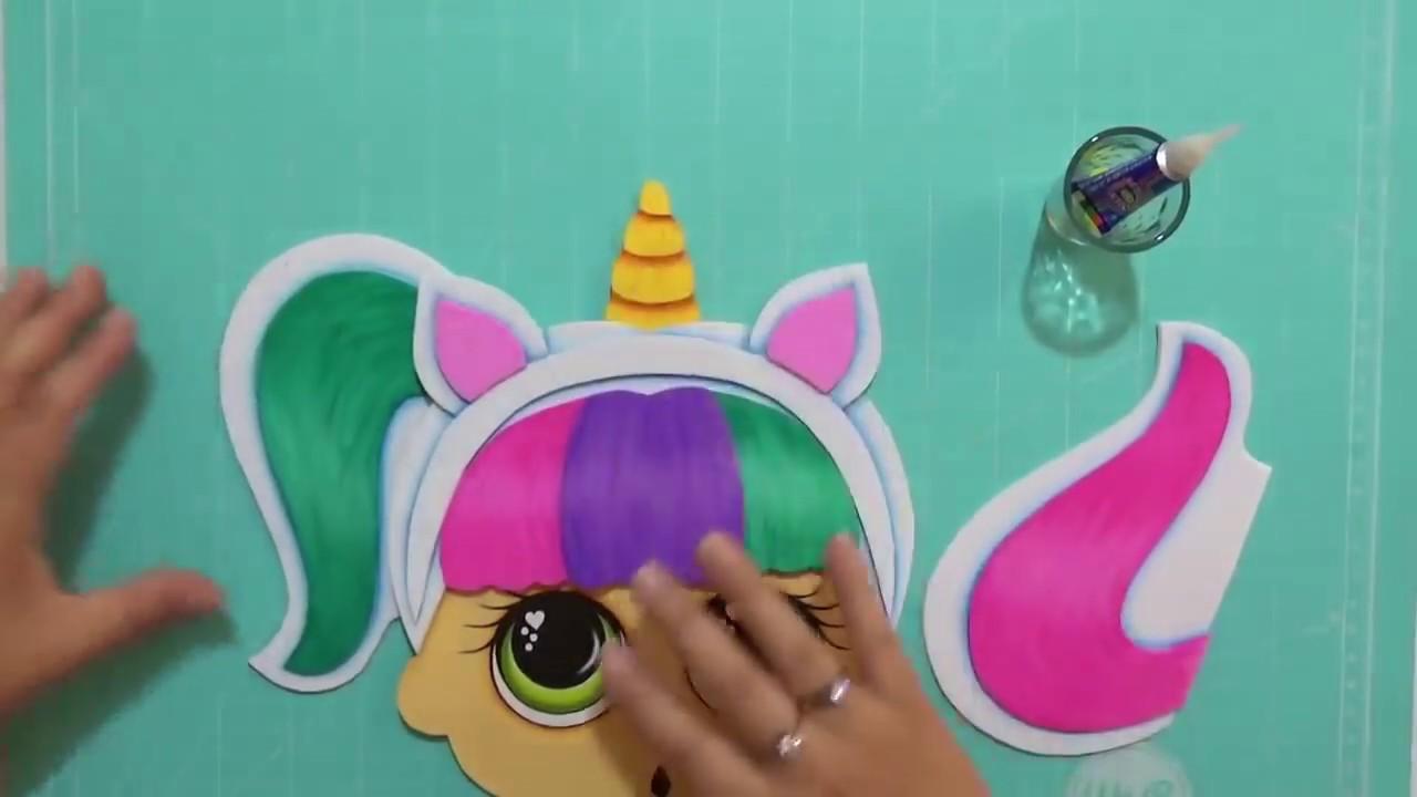 Muñeca Lol Unicornio En Foamy Goma Eva Microporoso
