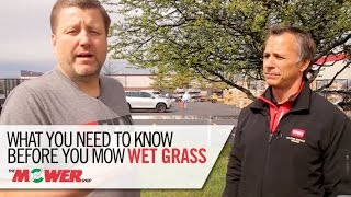 How To Mow Wet Grass - The Mower Shop - Spring Training