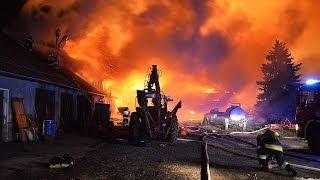 Pożar gospodarstwa w Klewkach k.Olsztyna