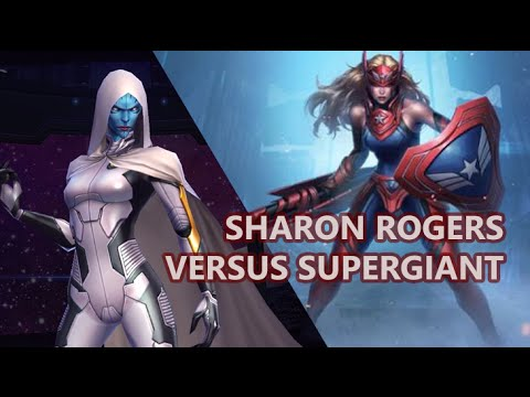 T2 Sharon Rogers, Star Lord, Steve Rogers vs Supergiant WB [Marvel: Future Fight]