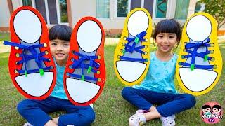 หนูยิ้มหนูแย้ม   หัดผูกเชือกรองเท้า Kids Activities
