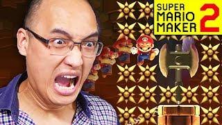 J'AI RAGÉ PENDANT 8 HEURES SUR LE NIVEAU D'UN ABONNÉ !   Super Mario Maker 2