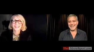 George Clooney THE MIDNIGHT SKY spoiler talk with Cate Blanchett - December 8, 2020