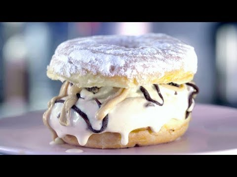 Chocolate Peanut Butter Burger Doughnut | The Baker Sisters