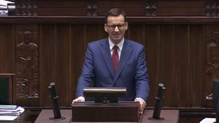 Premier Morawiecki w temacie filmu Sekielskiego w Sejmie