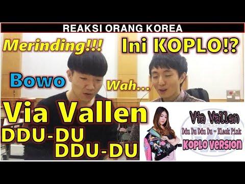 REAKSI COWOK KOREA dengar Via Vallen - Ddu Du Ddu Du ( Black Pink Koplo Version)