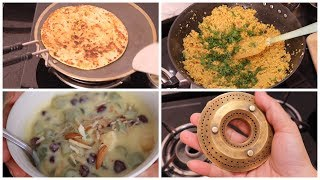 INDIAN MORNING BREAKFAST RECIPE | Gobhi Ke Parathe | Tips and Tricks for perfect Fruit Custard