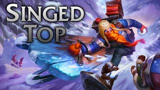 League of Legends   Snow Day Singed Top - Full Game Commentary