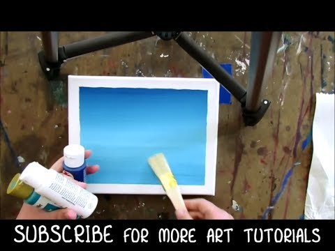 How To Paint A Blue Sky