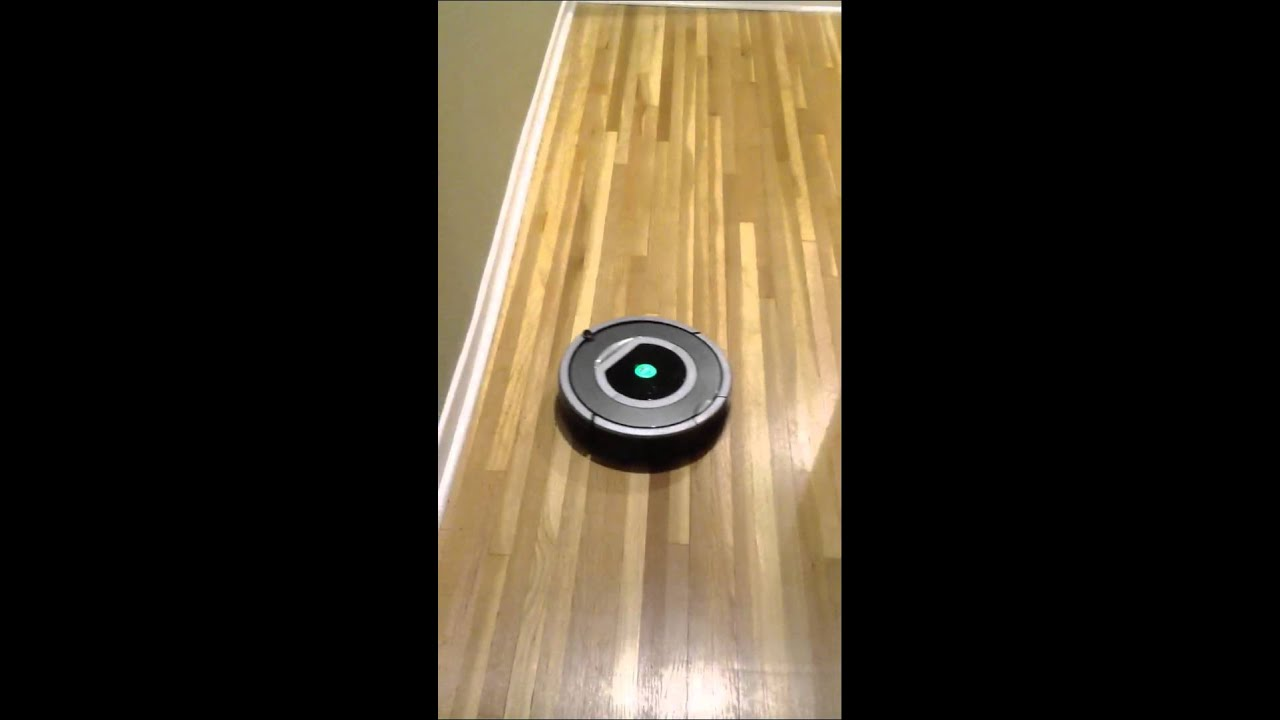 Roomba on hardwood floors - Roomba On Hardwood Floors - YouTube