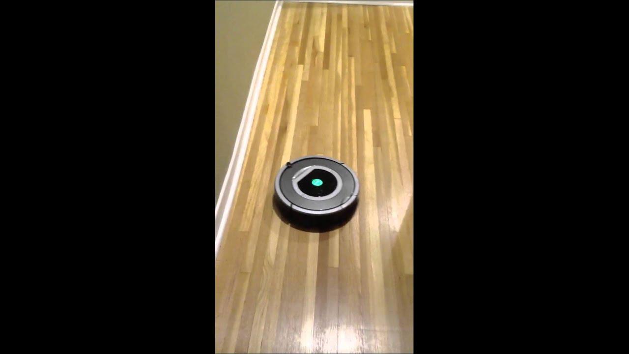 Roomba on hardwood floors  YouTube