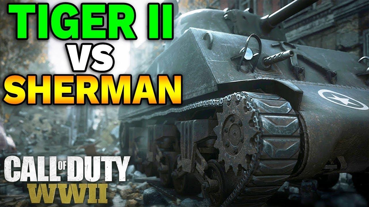 CZOŁGI w CALL OF DUTY: WW2 – Tiger II vs M4 Sherman