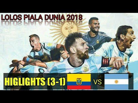 Ecuador vs Argentina FT 1-3 ALL Goals Higlights !!!  World Cup & Qualfiers 11 Oktober, 2017 ⚽