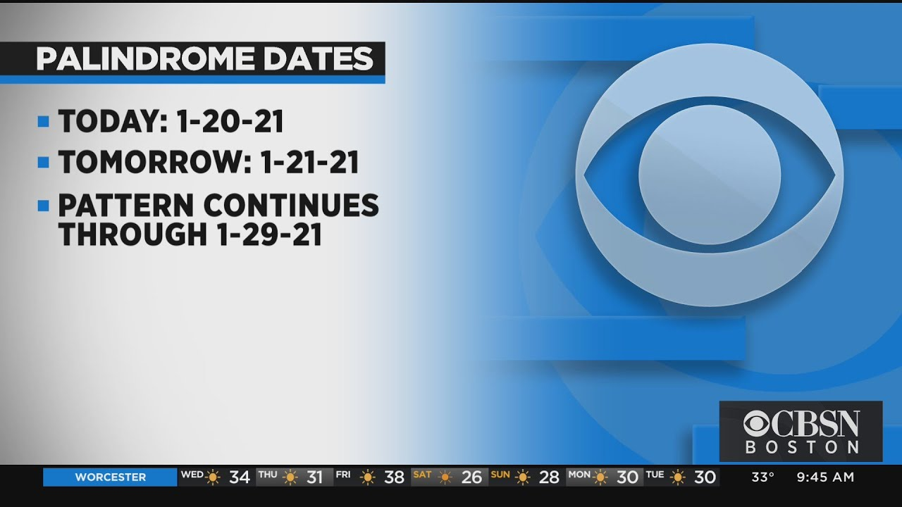 Is today a palindrome date? Jan 20, 2021 begins string of such dates