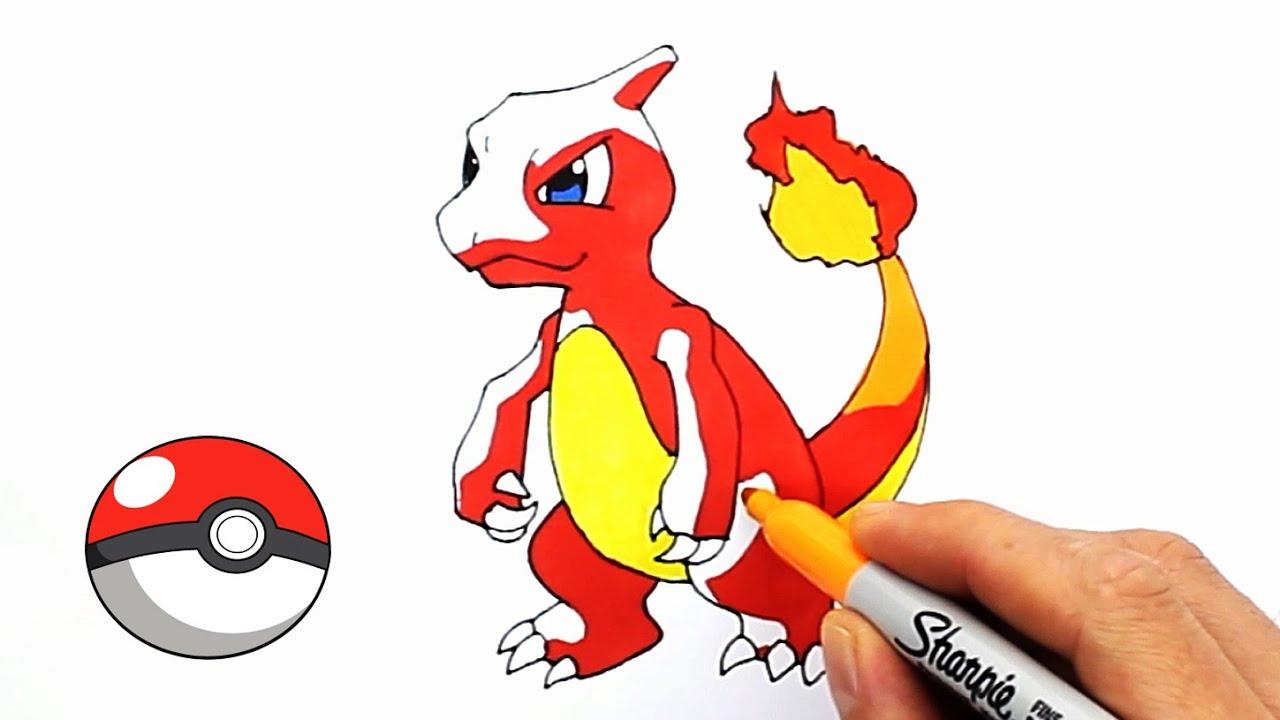 Charmander Charmeleon Charizard Pokemon Draw And Color