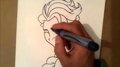 wie Elsa zeichnen