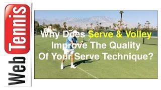 Tennis Serve Technique - when you serve & stay back