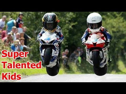 Super Talented Little Kids On Motorcycle 2017