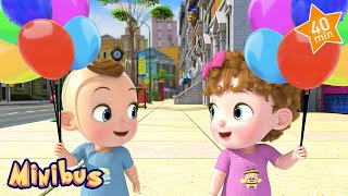 Color Balloon Song + More Kids Songs | Nursery Rhymes for Children & Babies | Minibus