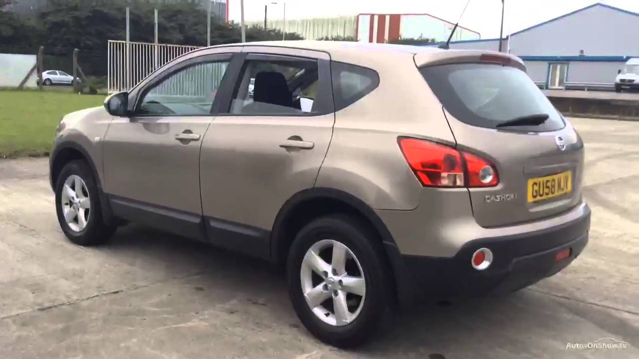 nissan qashqai acenta 4wd beige buff 2008 youtube. Black Bedroom Furniture Sets. Home Design Ideas