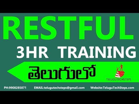 Restful Web Services Tutorial In Telugu|...