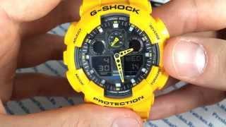 как настроить молодежные часы Casio G-SHOCK GA-100A-9A - инструкция от PresidentWatches.Ru