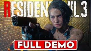 RESIDENT EVIL 3 REMAKE Gameplay Walkthrough Part 1 FULL DEMO [1080p HD 60FPS Xbox One] No Commentary