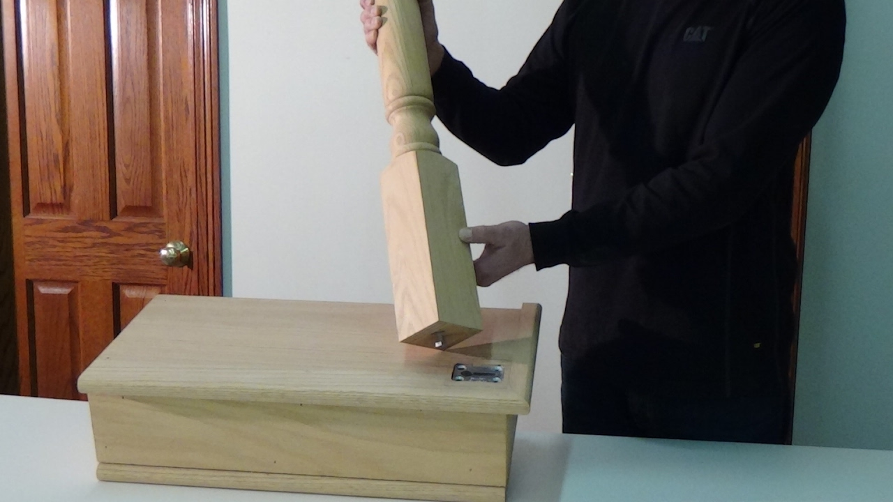 How To Install A Newel Post Using The Keylock Newel Post