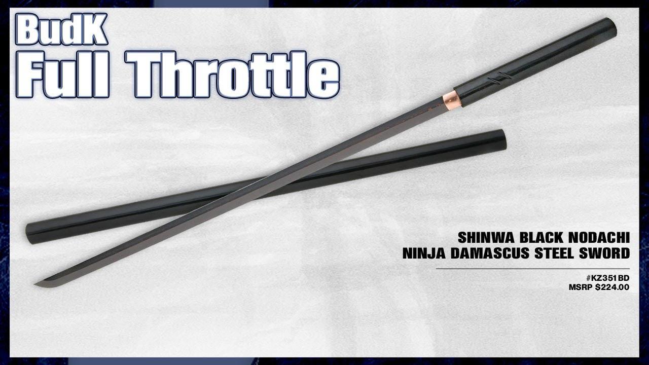 Shinwa Black Nodachi Ninja Damascus Steel Sword 149 99