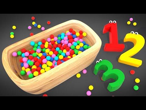 Видео: Цифры и Шарики /  Учим Цифры до 10 и Цвета /  Обучающий мультфильм для детей   Волшебство ТВ