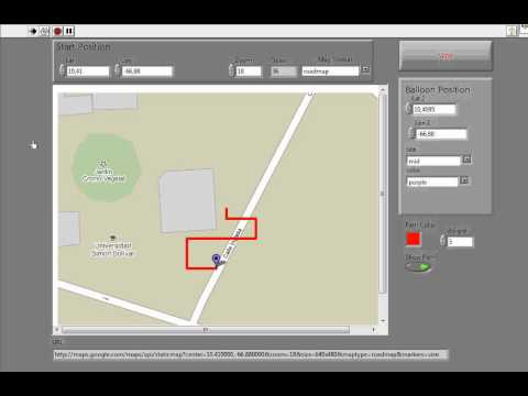 GPS Tracking with Labview and Google Maps