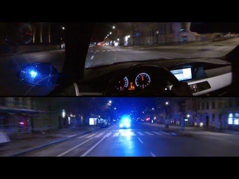 HIGHWAY 3 (Part 2) BMW E60 V10 M5 Police chase in Stockholm [HD]