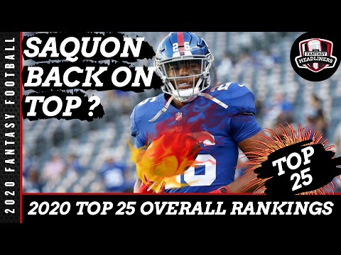 Fantasy Football 2020 Rankings  - Top 25 Overall Fantasy Football Players