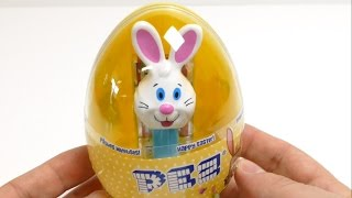 Pez Easter Egg  - Giant White Bunny Candy Dispenser & Toy