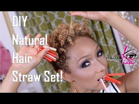 DIY Natural Hair Straw Set!
