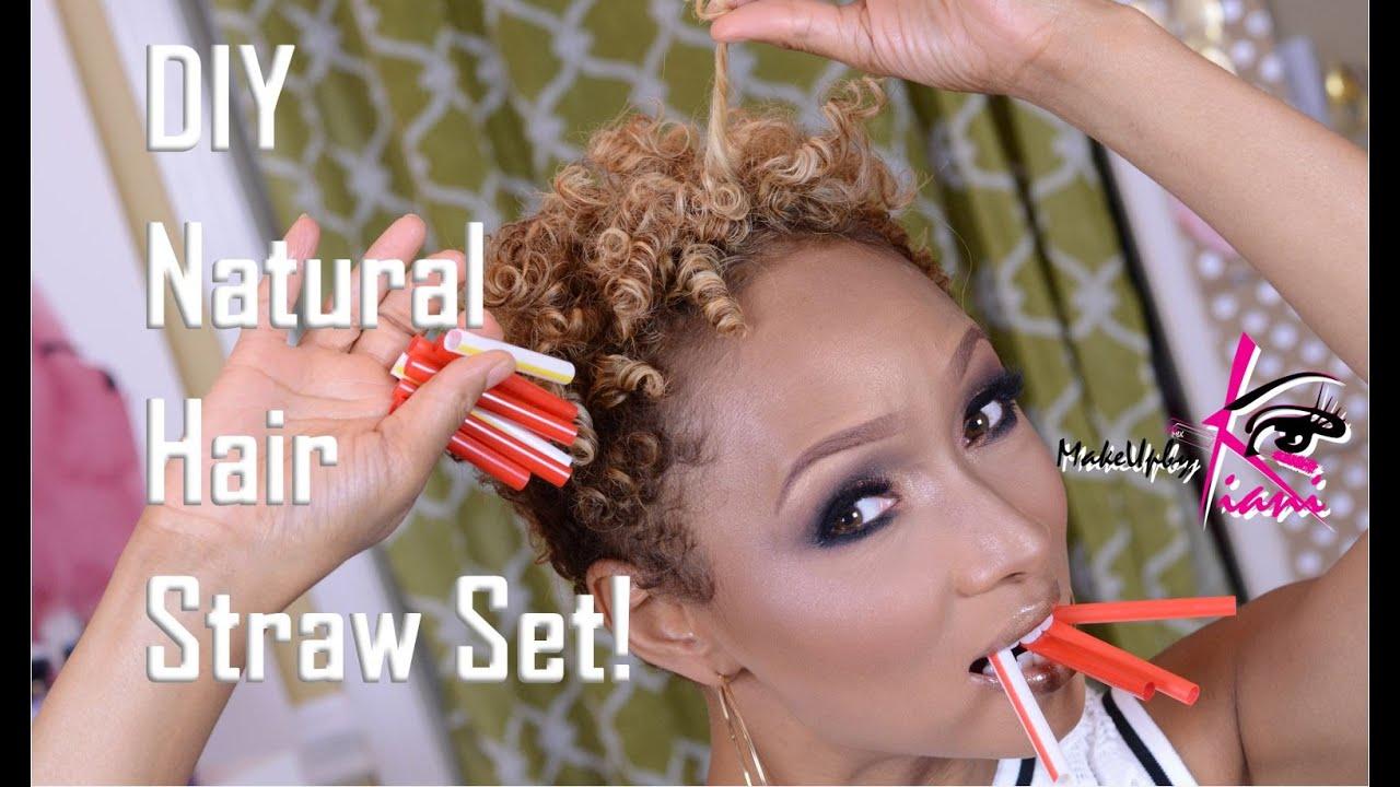 Diy Natural Hair Straw Set Youtube