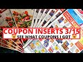 😍 COUPON INSERTS | SEE WHAT COUPONS I GOT 3/15 |DOVE COUPONS ARE BACK😍  WHERE I GET MY COUPONS FROM😍