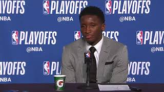 Victor Oladipo Postgame Press Conference | Pacers vs Cavaliers | NBA Playoffs Game 1