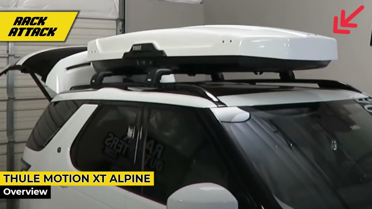 Land Rover Discover With Thule Motion Xt Alpine White