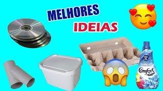 Melhores Ideias com MATERIAIS RECICLADOS - Caixa de ovo, CD, Rolo de papel, Pote de Sorvete