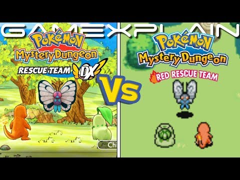 Pokémon Mystery Dungeon DX Graphics Comparison (Switch vs GBA)