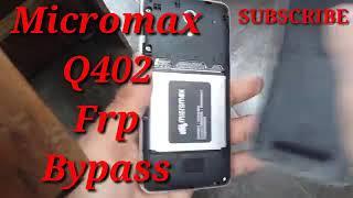 Micromax Q402+ FRP/Google Lock/Gmail Account Remove 1000